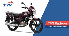 TVS Radeon Garners 1 Lakh Sales Milestone within Seven Months Since Launch