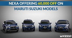 Nexa Offering Up to Rs 60,000 off on Maruti Suzuki's Selected Models