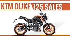 March Sales Report of KTM 125 Duke: 3069 Units Sold