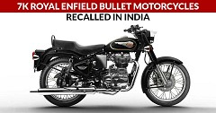 7K Royal Enfield Bullet Motorcycles Recalled in India
