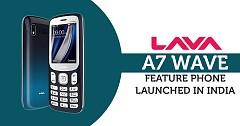 Lava A7 Wave feature phone launched in India with price tag INR 1,799