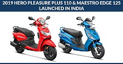 2019 Hero Pleasure Plus 110 and Maestro Edge 125 Launched in India