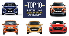 Top 10 Best Selling Cars in India in April 2019