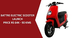 BattRE Electric Scooter with 90 km Travel Range Launched; Priced INR 64k