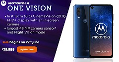 Motorola One Vision Launches With Attractive Features & Amazing Offers