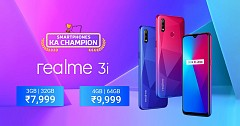 Realme 3i with 13MP Selfie Camera, Helio P60 SoC Launched in India