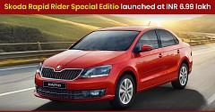 Special Edition Skoda Rapid Rider Launched, Priced at INR 6.99 Lakh