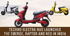 Techo Electra Launches Electric Scooters- Emerge, Neo and Raptor