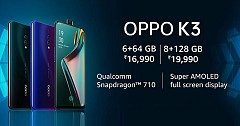 Oppo K3 Launched with Pop Selfie Camera and Snapdragon 710 SoC Processor