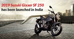 2019 Suzuki Gixxer SF 250 has been launched in India
