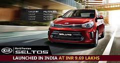 Kia Seltos launched in India at INR 9.69 lakhs
