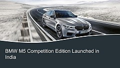 BMW M5 Competition Edition Launched in India, Priced at INR 1.55 Crore