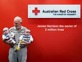James Harrison the savior of 2 million lives with his unique blood