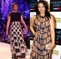 Sonakshi blasted with elegant attire at lakme fashion Week 2014