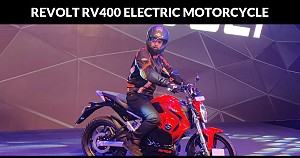 Revolt RV 400, India's First AI Enabled Electric Bike Exhibited