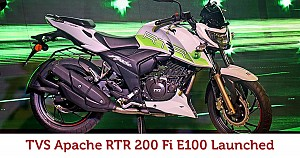 TVS Launches Ethanol-powered Apache RTR 200 Fi E100 at INR 1.20 lakh