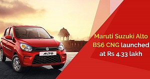 Maruti Suzuki launched its first BS6 S-CNG Alto with a starting price of  Rs. 4.33 lakh only