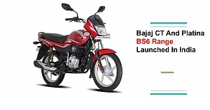Bajaj Launches BS6 CT100 and Platina 100