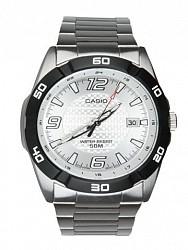 Casio Men Analog Silver Steel Watch