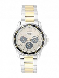 Casio Men Golden Dial Chronograph Watch