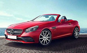 Mercedes-Benz SLC AMG 43 Red Art