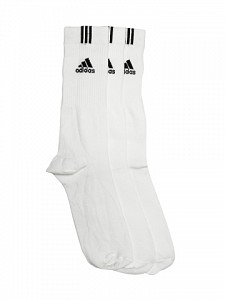 Adidas Unisex White Pack of 3 socks02