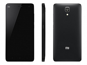 Xiaomi Mi4 Black Front,Back And Side
