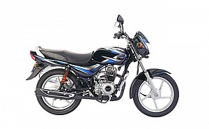 Bajaj CT 100 Ebony Black with Blue Decal