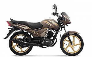 TVS Star City Plus Brown Gold