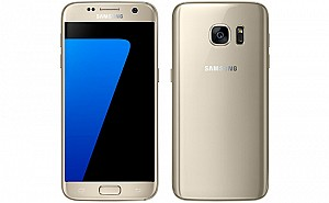 Samsung Galaxy S7 Gold Front And Back