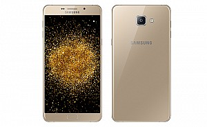 Samsung Galaxy A9 Pro Champagne Gold Front And Back