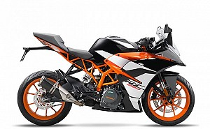 2017 KTM RC 390 Orange Black