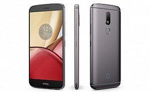 Motorola Moto M Grey Front,Back And Side