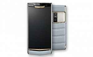 Vertu Signature Touch Sky Blue Front And Back