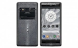 Vertu Stingray Black Leather Front And Back