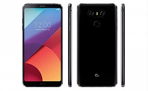 LG G6 Astro Black Front And Side