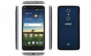 ZTE Blade X Max Blue Front,Back And Side