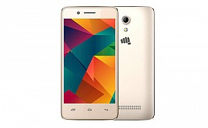 Micromax Bharat 2 Ultra Gold Front And Back