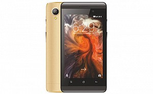 Celkon Star 4G+ Gold Front And Back