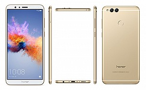 Huawei Honor 7X Gold Front,Back And Side