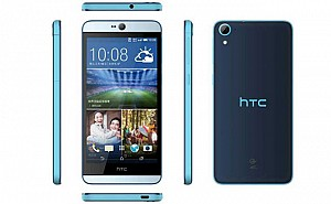 HTC Desire 826 Blue Lagoon Front,Back And Side