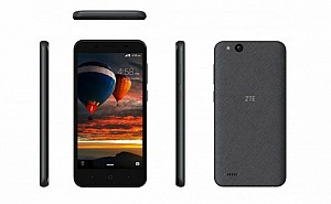 ZTE Tempo Go Grey Front,Back And Side