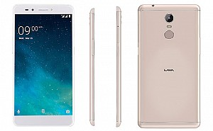 Lava Z25 Gold Front,Back And Side