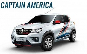 Renault KWID CAPTAIN AMERICA 1.0 MT ICE Cool White