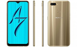 Oppo A7 Front, Side and Back