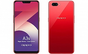Oppo A3s Front, Side and Back