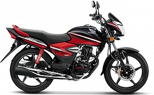 Honda CB Shine Disc CBS Limited Edition Black With Imperial Red Metallic