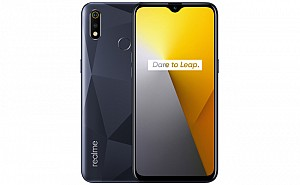 Realme 3i Front, Side and Back