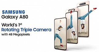 Samsung Galaxy A80 Launched In India With Rotating Camera, 3,700mAh battery, Snapdragon 730 SoC