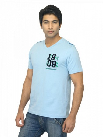 Locomotive Men Blue t-shirt002